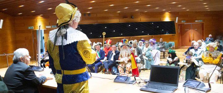 conferenza presentazione libro maschere italiane presso regione emilia romagna